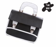 YESSTYLE: Smoothie- Contrast-Trim Satchel (Black - One Size) - Free International Shipping on orders over $150