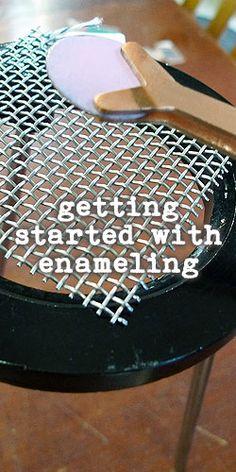 getting started with enamels - Ornamentea has all the materials you need to get started - from Ornamentea - Gli strumenti che servono per iniziare la tecnica dello smalto Soldering Jewelry, Jewelry Tools, Metal Jewelry, Jewelry Crafts, Jewelry Art, Beaded Jewelry, Jewellery, Jewelry Making Tutorials, Enamel Jewelry