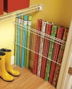 Wrapping Paper Storage   Easy Organization Ideas for the Home