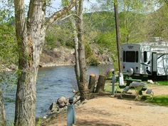 Lots of RV and camping sites...