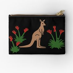 Kangaroo Paw, Zipper Pouch, Zip Around Wallet, My Arts, Art Prints, Printed, Awesome, Artist, Stuff To Buy