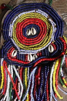 Oromo SIDAMO beaded pendant amulet necklace from Ethiopia.  tribally use Etnographic. by Timbuktugallery on Etsy