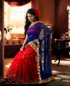 Fabulous Designer Half Saree | Saree Blouse Patterns