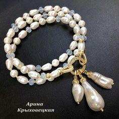 #ручнаяработа #жемчуг #опалит #жемчугКеши #жемчугБива #жемчугБарочный #фурнитура18К  #трансформер #браслет # #мода #фаворит #эксклюзив  #дизайнерскиеукрашения #arina.valente Pearl Necklace, Beaded Bracelets, Pearls, Photo And Video, Jewelry, Instagram, String Of Pearls, Jewlery, Jewerly