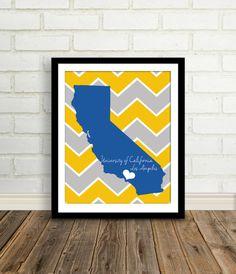 UCLA / CAL State / USC / Stanford California by EdmondsonbyDesign, $15.00