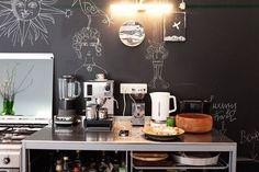 Caring For Apathy | 1000 Chalkboard Wall Bedroom, Diy Chalkboard, Bedroom Wall, Farmhouse Kitchen Diy, Diy Kitchen, Stove Backsplash, Berlin, Blog Deco, Jaba