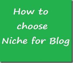 choose niche blogging