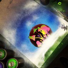 Mushroom spray art