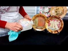 PRATO COM DÉCOUPAGE E PINTURA INDIANA - YouTube Decoupage Plates, Glass Flowers, Projects To Try, Dyi Crafts, Irene, Youtube, Diy And Crafts, Indian Decoration, How To Paint