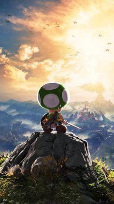 Nintendo Japan has a green Toad mascot named Kinopio-kun. Here he is in official art. : gaming breath of the wild Image Zelda, Super Mario Art, Mario And Luigi, Breath Of The Wild, Video Game Art, Game Character, Legend Of Zelda, Amazing Art, Dragons