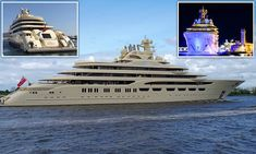 Dilbar is the biggest yacht in the world in terms of internal volume and the fourth longest in the world. She was custom built for Russian magnate Alisher Usmanov, who has a net worth of Lurssen Yachts, Yachting Club, Commercial Air Conditioning, Big Yachts, Yacht Boat, Motor Yacht, Extreme Sports, Water Crafts, Video Photography