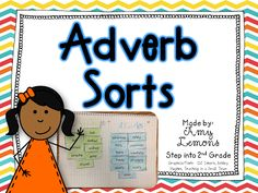 Adverb sorts ~ by Amy Lemons ~ Good for common core standard on adverbs and adjectives. 2nd Grade Grammar, 2nd Grade Ela, 3rd Grade Writing, 3rd Grade Reading, Second Grade, Grade 1, Teaching Grammar, Teaching Tips, Teaching Reading