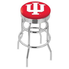 """Use this Exclusive coupon code: PINFIVE to receive an additional 5% off the Indiana University 2½"""" Ribbed Ring Bar Stool at SportsFansPlus.com"""