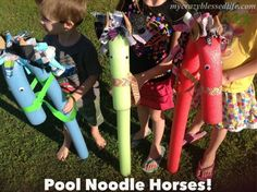 Summer craft for kids: pool noodle horses are easy, cheap and lots of fun!