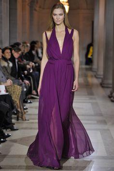 Purple gown Look 40. Carolina Herrera Fall 2016 collection