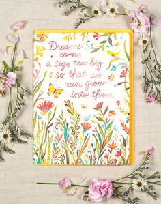 Dreams Come a Size Too Big Greeting Card