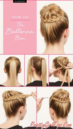 @prettygirltips Beautiful Ballerina Bun Hairstyle Tutorial
