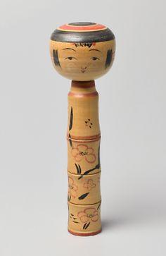 Japanese Wooden Tsuchiyu Kokeshi Doll by Sanpei Haruo (1929-1987)