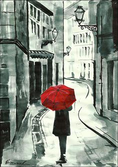 Print Art Ink Drawing City Street Art Painting by rcolo on Etsy, $10.00