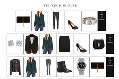 Three Ways to Style a Tie-Neck Blouse