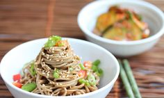 50 Women Game Changers in Food -#4 Martha Stewart's Cold Sesame Noodles - Jeanette's Healthy Living