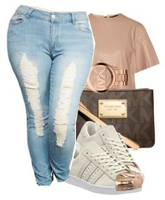 #superstar by eazybreezy305 on Polyvore featuring polyvore, fashion, style, Belstaff, Wet Seal, adidas, Michael Kors, women's clothing, women's fashion, women, female, woman, misses, juniors, simpleoutfit, Trendy, schoolstyle and 2016