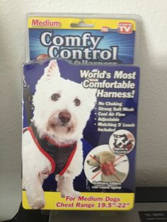 New in box comfy control harness quot as seen on tv quot size medium chest 19