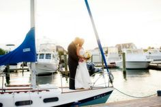 Real Weddings: Stephanie and Brian at The Regatta Place        #VisitRhodeIsland