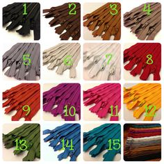 20 inch zippers wholesale choose color 5 zippers by ZipperIsland