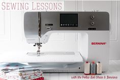 sew ins, sew lesson, sewing machines, polka dots, bernina, sewing lessons, sew machin, sewing tutorials, dot chair
