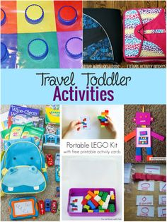 Fun travel toddler activities you have to pack on your next trip Toddler Travel Activities, Learning Activities, Activities For Kids, Airplane Activities, Indoor Activities, Infant Activities, Preschool Ideas, Toddler Fun, Toddler Learning