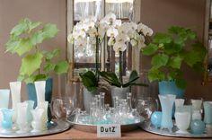 Mooie gekleurde vazen van DutZ Collection. Mondgeblazen glas. www.krayenhoff.nl