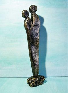 Moderne Skulptur kunstgaleriewinkler skulptur xl silber paar deco figur abstrakt