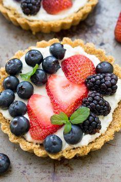 No Bake Mascarpone Cheese Fruit Tarts