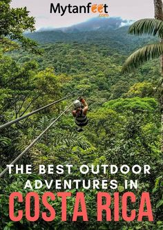 A list of the top ten adventure activities in Costa Rica that every visitor must do including ziplining, canyoning and more!