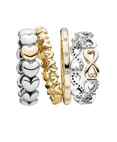 pandora infinite love ring stackables