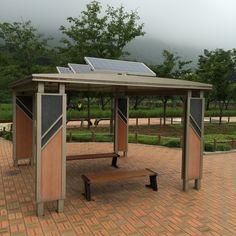 진해 경화역에 있는 태양광 쉼터.