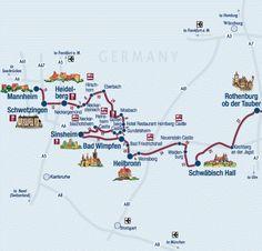 Castle Road   Burgenstrasse   German Castles   Touring Germany