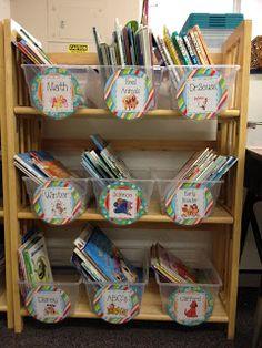 Apples and ABC's: Classroom Organization Class Library Idea