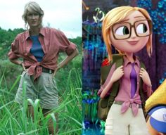 Watching Cloudy with a chance of meatballs 2, and I knew i'd seen that outfit before.