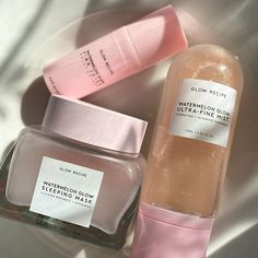 Beauty Care, Beauty Skin, Beauty Hacks, Beauty Essentials, Watermelon Glow Sleeping Mask, Face Skin Care, Aesthetic Makeup, Skin Makeup, Body Care