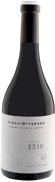 """""""Colección 1310 Block A1"""" Pinot Noir 2015 - Bodega Finca Ferrer, Tupungato, Mendoza-------------Terroir: Gualtallary (Tupungato)"""