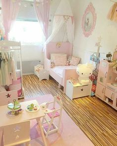 The beautiful of dream play room girls design ideas 37 Baby Bedroom, Nursery Room, Girls Bedroom, Bedroom Decor, Room Girls, Bedroom Ideas, Princess Room, Toddler Rooms, Little Girl Rooms