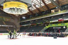 wedding for ice hockey fans in the Postfinance Arena in bern, switzerland  photo by bildschmiede.ch
