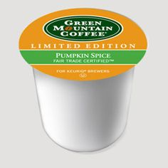 green mountain pumpkin spice.                                                                            http://www.keurig.com/coffee/pumpkin-spice-coffee-k-cup-green-mountain