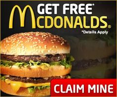 Looking for Free McDonalds Gift Card? Here you can a chance to win a McDonalds Gift Card without having to buy. Click the link below and enter your email Free Fast Food Coupons, Free Mcdonalds Coupons, Free Coupons Online, Free Coupons By Mail, Kfc Coupons, Grocery Coupons, Print Coupons, Cigarette Coupons Free Printable, Free Printable Coupons