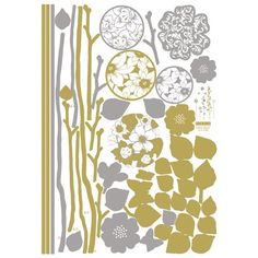 Nursery Easy Apply Wall Sticker Decorations  Champagne Floral Eclipse * Be sure to check out this awesome product.