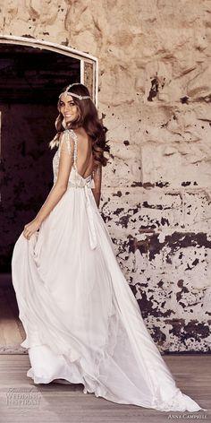 anna campbell 2018 bridal jeweled sleeves strap sweetheart neckline heavily beaded embellishment tulle skirt romantic soft a line wedding dress open back chapel train (2) bv