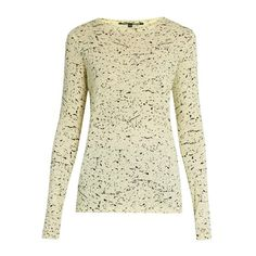 Proenza Schouler Splatter-print cotton-jersey T-shirt ($255) ❤ liked on Polyvore featuring tops, t-shirts, print t shirts, patterned tops, print top, pattern t shirt and pattern tees