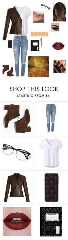 """A Writer On A Walk During Fall!"" by prettyfallenangel ❤ liked on Polyvore featuring Madewell, River Island, prAna, Balmain, Zero Gravity and John Lewis"